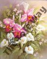 Hummingbirds, Lillies and Irises (8x10)