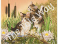 Kittens with Frogs (8x10)