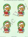 Christmas Teddy card sheet