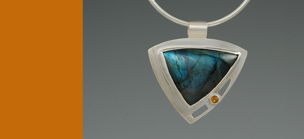 labradorite with citrine