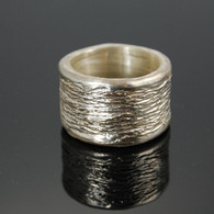 """Furrows"" Cast Silver Ring"