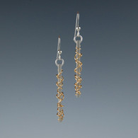 Silver Bar & Gold Fill Wire Earrings