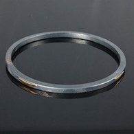Bangle, Oxidized Silver & 14kt Gold