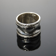 """Waves #2"" Cast Silver Ring"