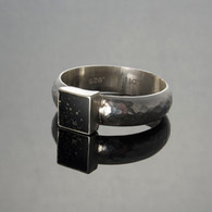 Slate with Pyrite Silver Ring