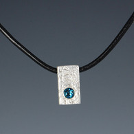 Recycled Silver Ingot with Blue Topaz