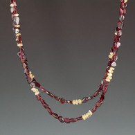 Garnet & Citrine Necklace
