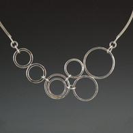"""""""Bubbles"""" Silver Necklace"""
