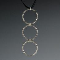 Triple Silver Circles Pendant