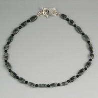 Tourmelated Quartz & Black Onyx Strand