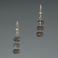 Labradorite Triple Rondelle Earrings