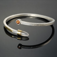 """Directions,"" Silver & 18kt Gold with Zircon and Agate"