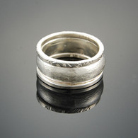 """Square Half"" Wide Silver Band"