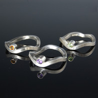 """Curves"" Ring with Gemstone"