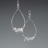 Silver Teardrop & Quartz Beads