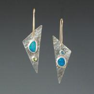 Opal, Blue Topaz & Peridot in Silver & 14kt