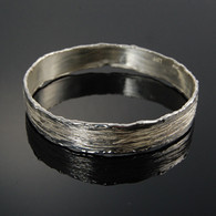 "Bangle, ""Furrows"" in Silver"