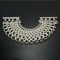 """Chainmail Silver Bracelet: """"King's Mail"""""""