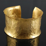 Cuff, 18kt Gold-Plated Hammered Texture