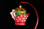 Red Watering Can (With Sunflowers)