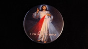 "Divine Mercy | 3 1/2"" Magnet (Blue Background)"