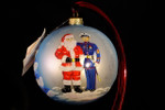 "Santa with Navy Officer 10 Cm Bulb (Approx. 4"")"