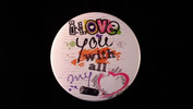 "I Love You With All My Heart | 3 1/2"" Magnet"