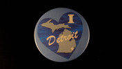 "I Love Detroit / Heart w/Water | 3 1/2"" Magnet"