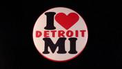 "I (Heart) Detroit MI | 3 1/2"" Magnet"