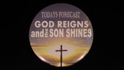 """Today's Forcast   3 1/2"""" Magnet"""