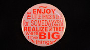 "Enjoy Life | 3 1/2"" Magnet"