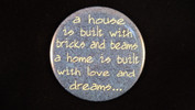 "A house is built with bricks and beams.. | 3 1/2"" Magnet"