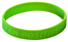 I am Positive Silicon Wristband