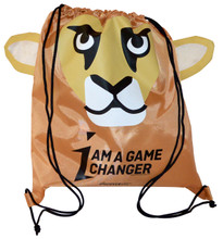 I am a Game Changer - Cougar Drawstring Backsack