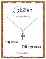 Skosh Tiny Cross, Big Promise Necklace