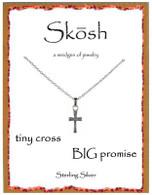 Skosh Tiny Cross, Big Promise Necklace