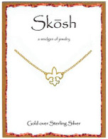 Skosh Open Fleur-De-Lis Necklace- Gold Plated