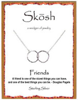 Skosh Two Circle Friends Necklace
