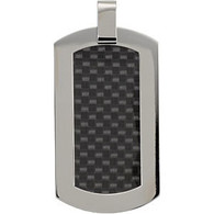Titanium Dog Tag with Carbon Fiber Inlay