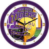 Football Helmet Wall Clock-LSU