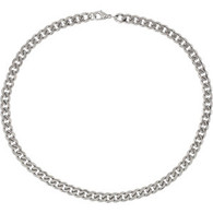 Stainless Steel Beveled 10.5MM Curb Chain- 24""