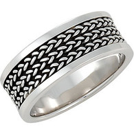 Sterling Silver Woven Band