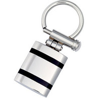 Stainless Steel Keychain with Black Enamel