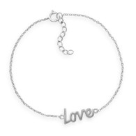 "Rhodium Plated ""Love"" Bracelet"