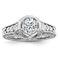 14k White Gold AA Diamond engagement ring