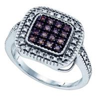 0.19CTW COGNAC DIAMOND MICRO PAVE RING