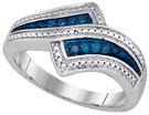 0.10 CTW BLUE DIAMOND FASHION RING