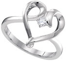 0.05CTW DIAMOND HEART RING