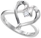 0.05CTW DIAMOND HEART RING