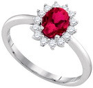 0.24CTW DIAMOND 1.12CT RUBY RING